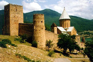 Castle of Ananauri. Aragvi Valley, Georgia