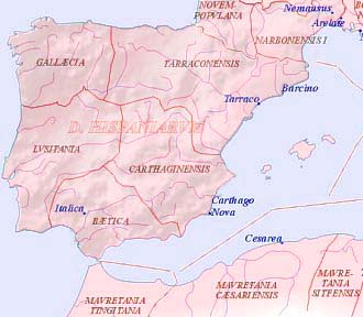 Hispania in  Roman times